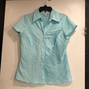 Dress Barn Aqua Blue Blouse